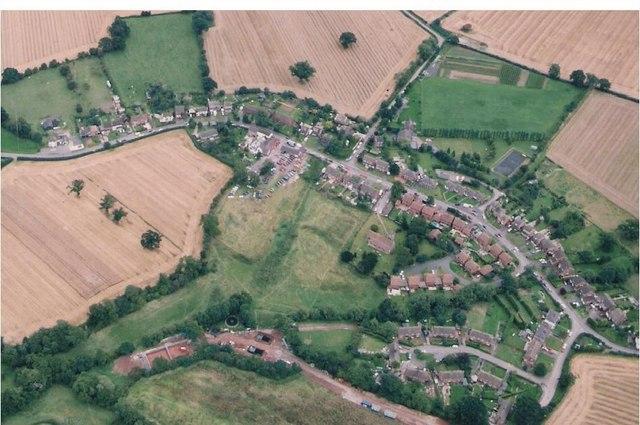 Bobbington, Staffordshire. Aerial. 1992