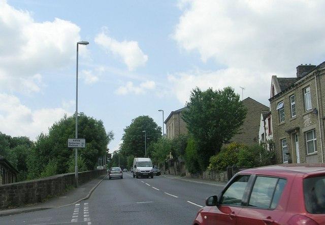 Meltham Road - viewed from Bridge Street