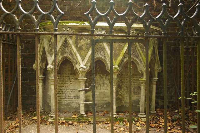 Gothic grave, St John-at-Hampstead Churchyard, London NW3