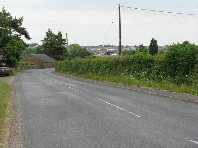 Inglewhite Road, looking south to Longridge