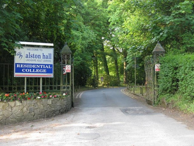The entrance to Alston Hall