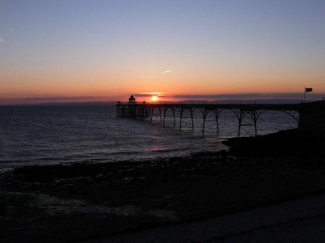 Clevedon Pier, Sunset, Midsummer's Day