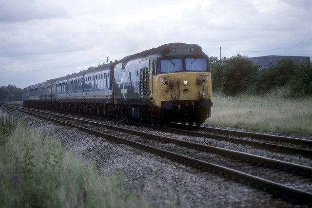 Waterloo to Exeter service arrives at Grateley