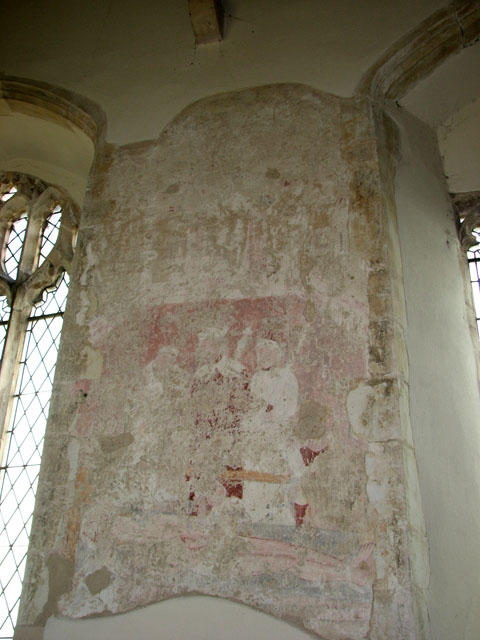 All Saints' church in Tattersett - medieval mural