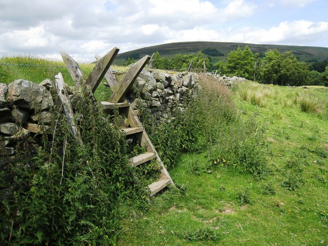 Ladder stile near Lintley