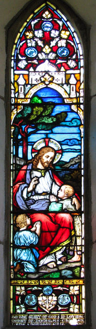 St Margaret's church in Tatterford - C19 stained glass