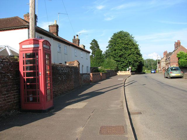 K6 telephone box in Helhoughton village