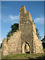 TF8725 : The ruins of St Margaret's church in West Raynham by Evelyn Simak