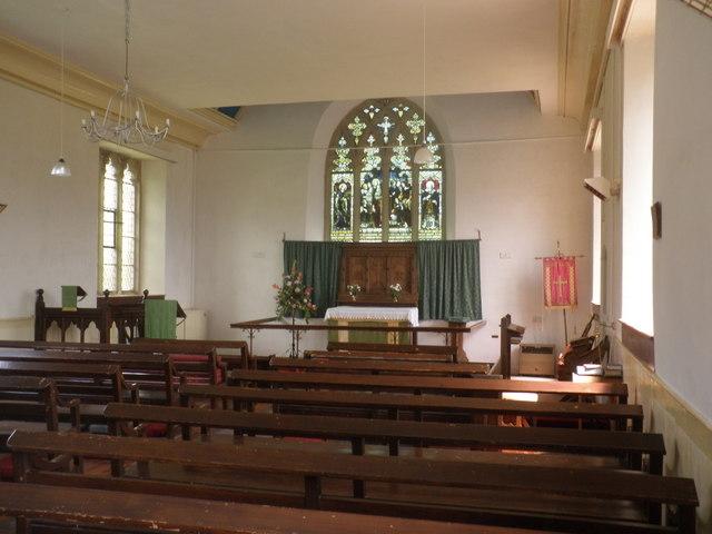 Interior, Posbury Chapel