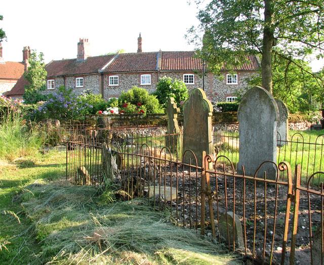 The ruins of St Margaret's church in West Raynham - churchyard