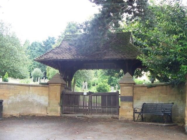 Lych gate, Blockley cemetery