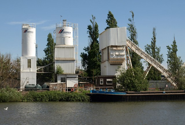 Concrete works by the canal
