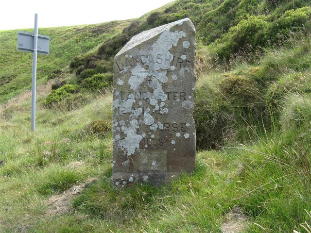 Old county boundary stone
