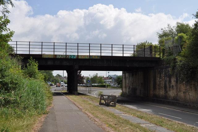 Railway bridge across Docks Way