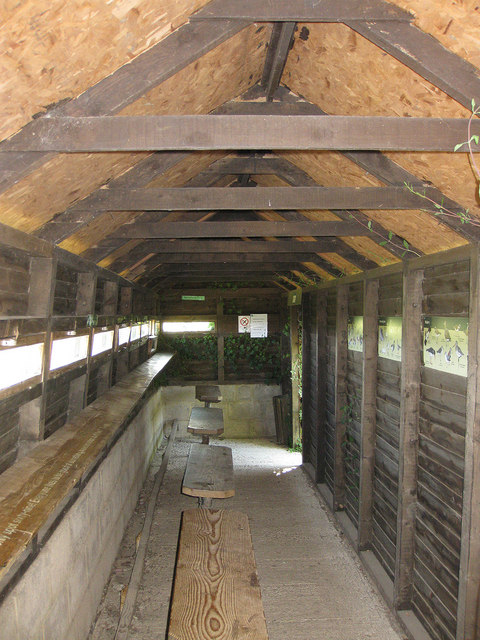 Martin Smith Hide, Slimbridge Reserve - interior
