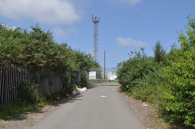 Track up to railway siding
