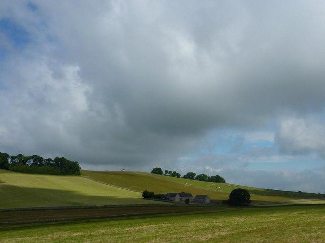 Farmland round Gaglane Barn