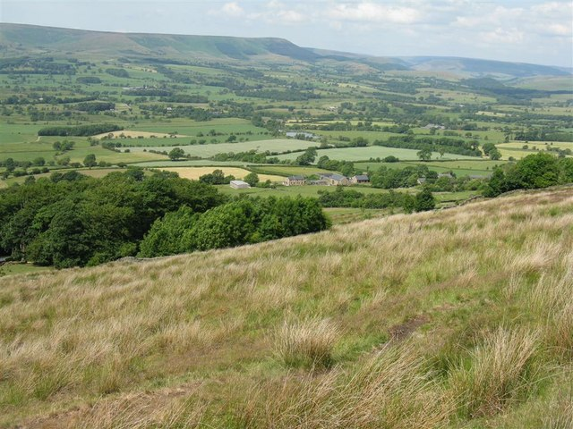 Looking down the northern slopes of Longridge Fell