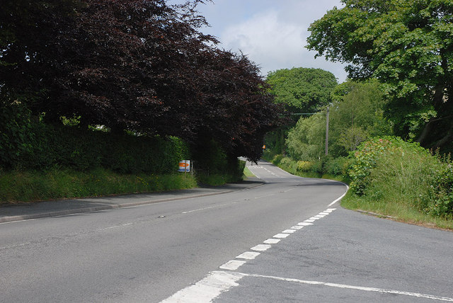The A487 south of Llanfarian