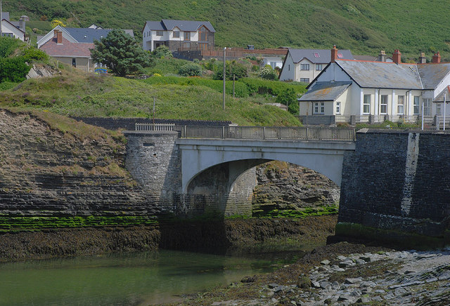 The Ystwyth bridge at Trefechan
