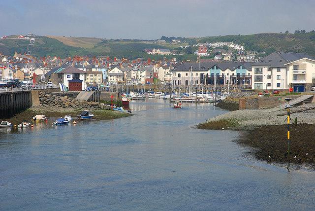Aberystwyth harbour entrance