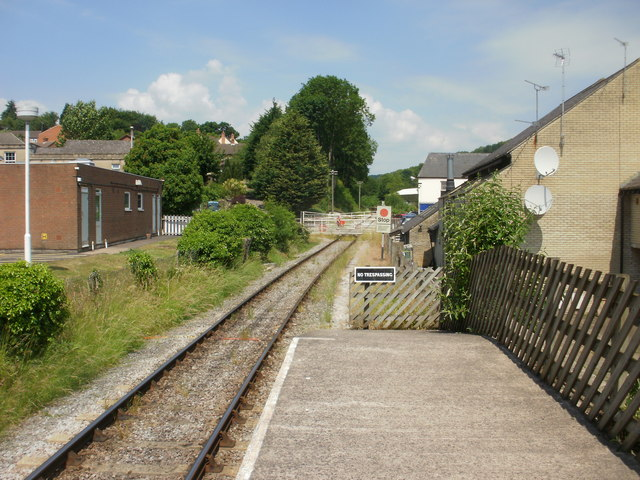The view north from Lydney Town railway station