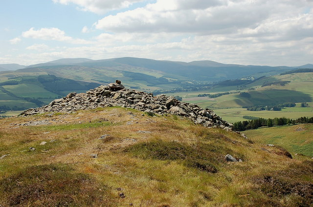 Summit cairn, Black Meldon
