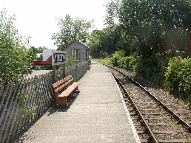 Lydney Town railway station platform