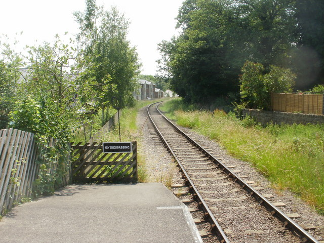 The view south from Lydney Town railway station