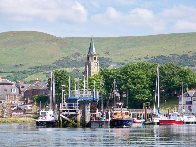 Tranquil Girvan Harbour