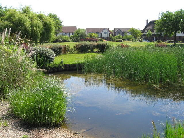 Pond the hermitage cleveleys alex mcgregor geograph for Koi pool cleveleys