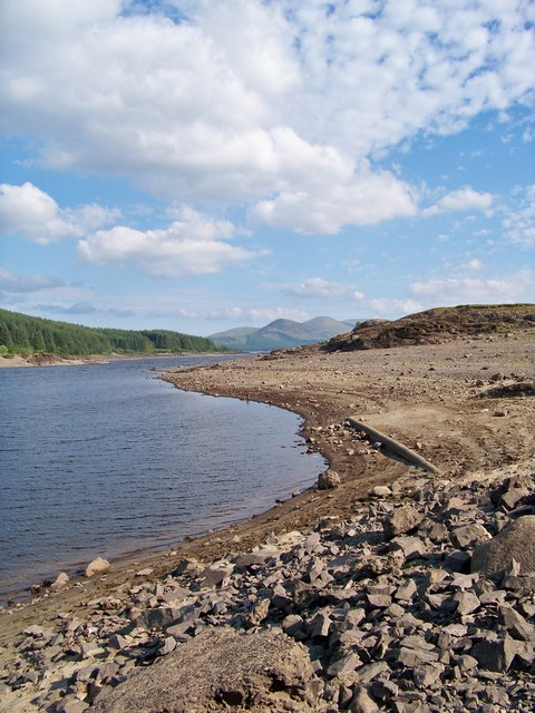 Low Water At Loch Doon