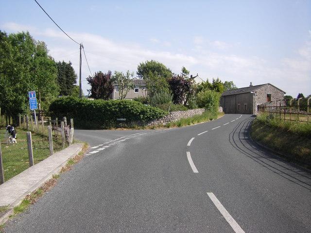 Junction of Red Bridge Lane and Moss Lane