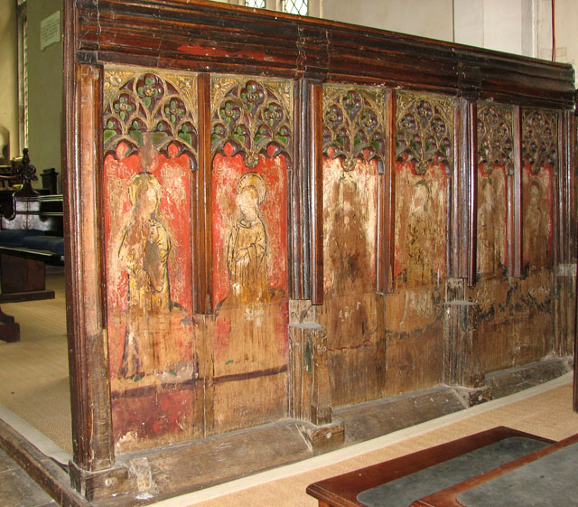 St Mary's church in Ufford - rood screen panels