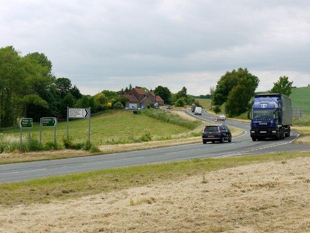 Main A697 near Crookham