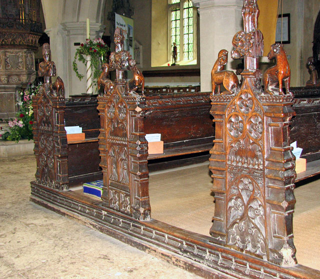 St Mary's church in Ufford - C15 benches