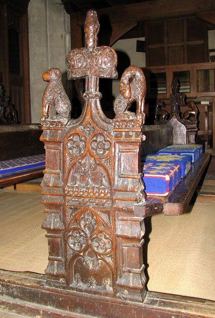 St Mary's church in Ufford - C15 bench