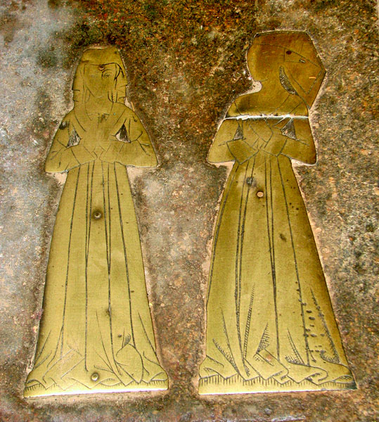 St Mary's church in Ufford - figure brasses
