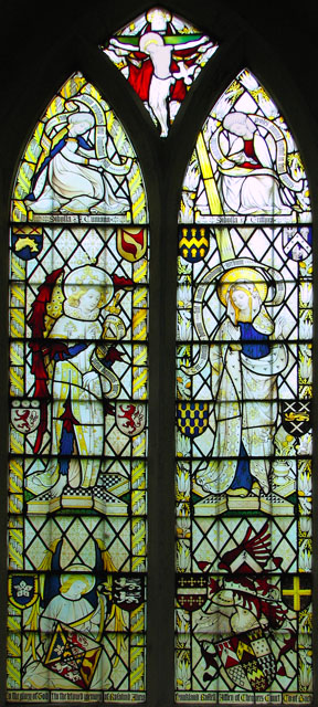 St Mary's church in Ufford - stained glass window