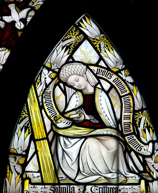 St Mary's church in Ufford - stained glass (detail)