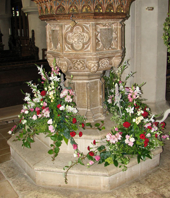 St Mary's church in Ufford - C15 baptismal font