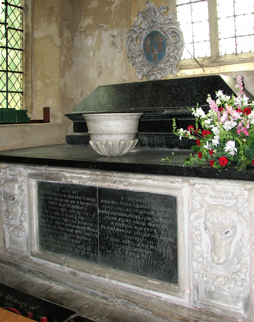 St Mary's church in Ufford - monument