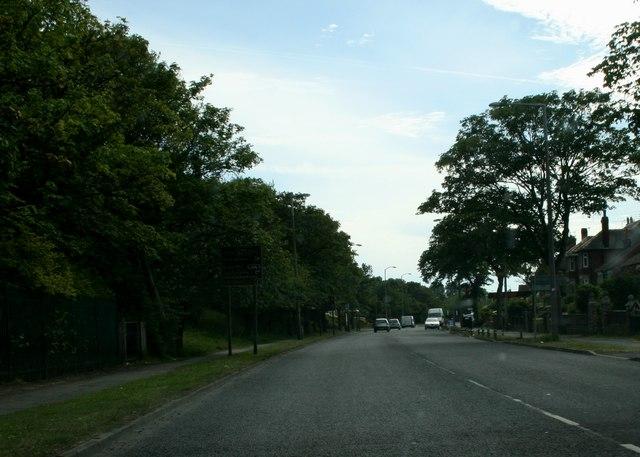 A 586, Poulton Road near Boundary Park
