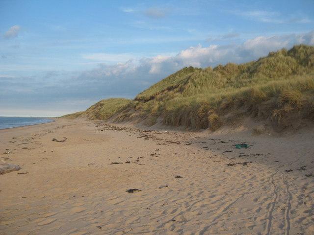 Cheswick Beach with tide receding