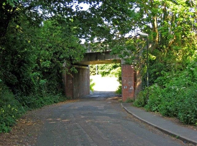 Railway bridge at end of Ombersley Road