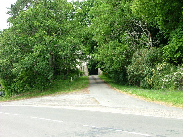 Driveway to Lude House