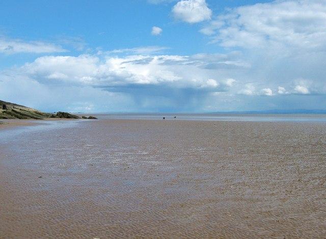 The flat sands of Port O' Warren Bay
