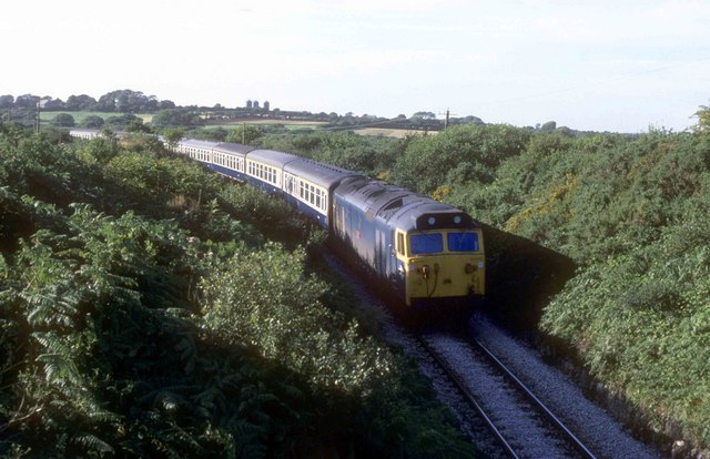The Newquay to Par railway