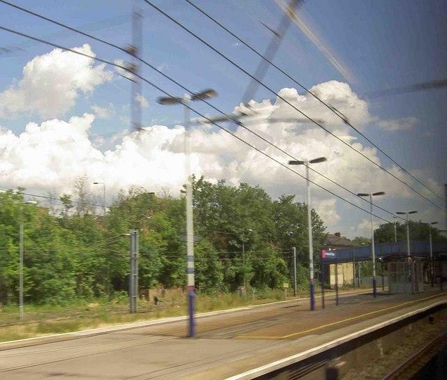 Heading North through Alexander Palace railway station