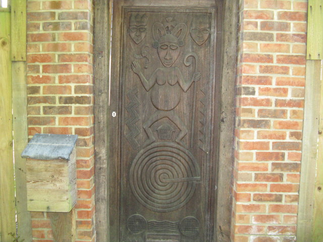 Unusual gate on private residence at Upper Norwood